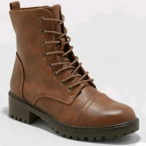 Universal Faux Leather Combat Boot - NWT